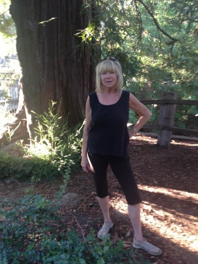 Ann Bradley at El Palo Alto Tree, Palo Alto
