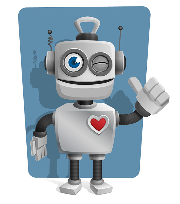 Robot_Vector_Character_with_Thumbs_Up_Preview